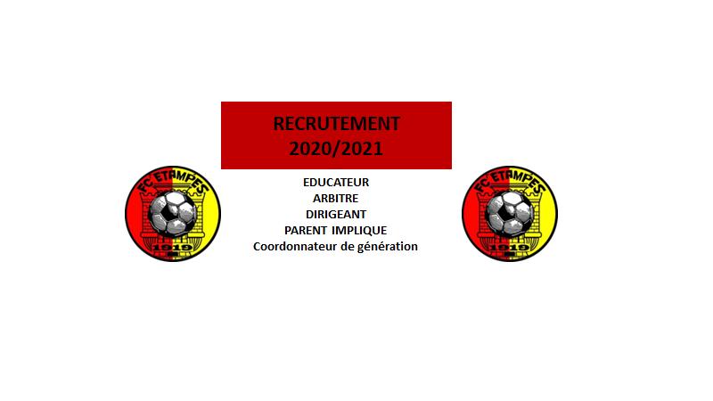 LE FC ETAMPES RECRUTE